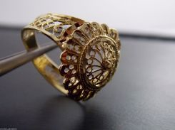 14k Gold Filigree Ring
